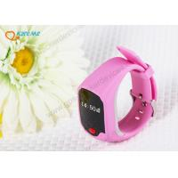Quality Mini Safety Kids Cell Phone Watch , Watch Tracking Device For Child / Elderly for sale