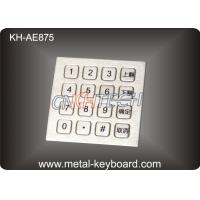 Best Ruggedized 16 Keys Stainless Steel Keypad Numeric with Top panel mounting wholesale