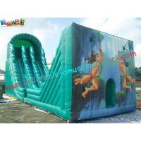 China Hot Giant Rent Inflatable Slide / Tarzan Inflatable Zip Line Slide Slip Game For Sports on sale