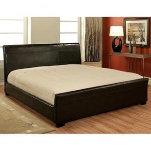 China King size platform leather bed New Design on sale