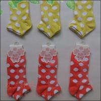China China socks factory Large dots short socks women's ankle socks on sale