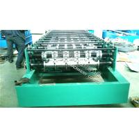 Quality 38-183-916 Roof Panel Roll Fomring Machine With Hydraulci Press Cutting and PLC Control System for sale