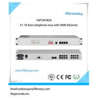 Quality High performance E1 pcm mux  16Voice and 4 port  Ethernet , 4  port data fiber optical Multiplexer with network managed for sale