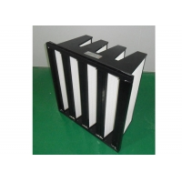 Quality ISO Filter Purifie V Bank Filter Plastic Frame With Big Air Volume for sale
