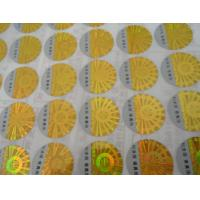 Quality Custom printed 2D 3D gold siver round oval rectangular hologram anti-counterfeit certificate label stickers for sale