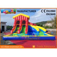China Water - Proof Giant Inflatable Water Slide / Outdoor Inflatable Pool Park on sale
