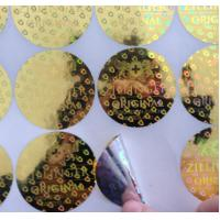 Quality Custom made various size 3D gold round shape anti-fake laser hologram stickers with serial number for sale