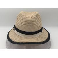 Quality Panama Straw Hat,Wide Brim Foldable Fedora Beach Sun Hat for Women for sale