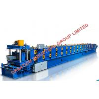 Quality Hydraulic Post Cutting Metal Roofing Water Gutter Roll Forming Machine 8-12m/min for sale