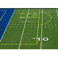 Quality Realistic Looking Soccer Artificial Grass Rug Strong Wear Resistant PE Material for sale