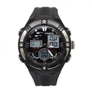 China Dual time analog waterproof mens digital watches , fashion digital sports watch OEM on sale