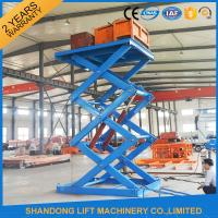 China Anti Skid Checkered Plate Stainless Steel Scissor Lift , Fixed Cargo Stationary Hydraulic Lift Platform on sale