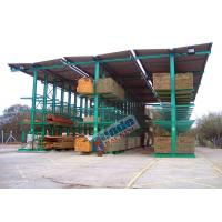 Quality 4650 Kg Per Arm Cantilever Steel Storage Racks Rows With Stacker Cranes for sale
