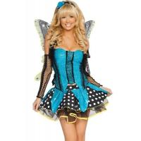 Quality Blue Garden Butterfly  Halloween Adult Costumes Customized For Carnival Dance for sale