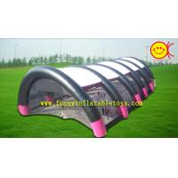 Best 0.55 mm PVC Tarpaulin Air Continue Tent , Black A nd White Color Tent For Event wholesale