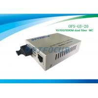 20Km Single Mode Fiber Media Converter 10 / 100 / 1000Base - Tx to 1000Base - LX MC 1310nm