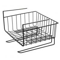 Quality Under Cabinet Hanging Shelf Wire Basket Organizer For Cabinet Extra Storage Space for sale