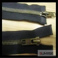Quality 2015 best sell quality 4.5 metal anti brass closed end semi lock slider Y teeth polyester tape zipper for sale