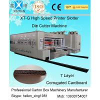 Remote Control Flexo Printer Slotter Machine With Lead Edge Feeder 150 Pieces/Min