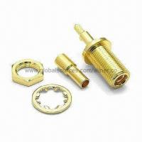 Quality MMCX Straight Jack RF Coaxial Connector with Locking Ring Mechanism, Suitable for RG178 Cable for sale