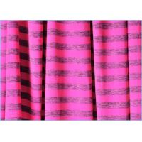 Best Rose Grey Design Stripes Supplex Lycra Fabric , Solid Color Nylon Polyester Spandex Fabric wholesale