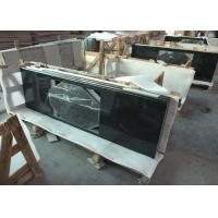 Quality Absolute Black Granite Vanity Top , 2cm Thick Natural Solid Surface Vanity Tops for sale