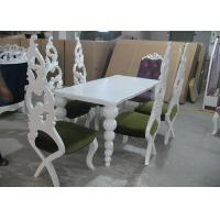 Buy cheap Restaurant Elegant White Wooden Modern Dining Room Tables And Chairs (180 cm) from wholesalers