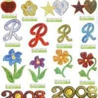 Best Promotional embroidery patch / flower badge Iron-on, Sew-on Backing for clothes wholesale