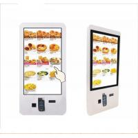 Quality Tempered Glass Self Service Kiosk Floor Standing Touchscreen Terminal One Year Warranty for sale