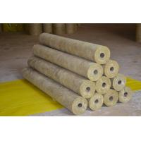 Quality High Density Rockwool Pipe Insulation Material Heat Resistant ISO CE for sale