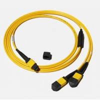 Quality MPO-MPO Low insertion loss,high speed network,Yellow/Aqua color  fiber optic patch cord for sale