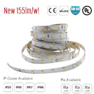 Quality smd2835 128led/m ul led soft strip 155lm/w for sale