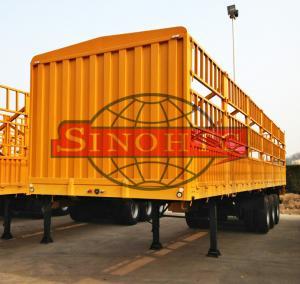 Quality Tri Axle Container Semi Trailer 50 Tons Bulk Stake Livestock Semi Trailers for sale