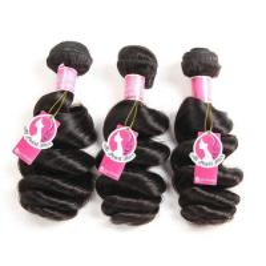 Quality Loose Wave Brazilian Human Hair Bundles Deals , Brazilian Wave Hair Extensions for sale