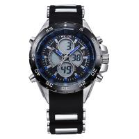 Quality WH-1103blue New Black 3-window display multi-functional mens Analog-digital Sports Watch for sale