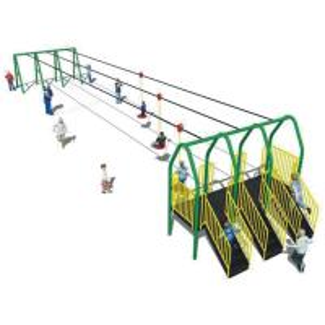 China ISO9001 Preschool Playground Equipment , Kindergarten Aerial Zip Line Equipment on sale