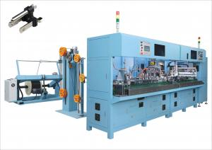 Buy cheap Down Angle Nema 5-15P Plug Making Crimping Machine Power Cord Production Line from wholesalers