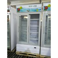 China LC-810FS vertical frost free sliding door display beverage refrigerator/glass door chiller/beverage cooler on sale