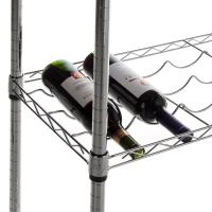 "Quality Carton Steel 5 Shelf Wire Wine Rack With 34""Posts Adjustable  ODM for sale"