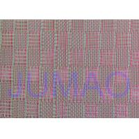 Quality Pink Color Metal Glass Laminated Wire Mesh Fabric For Decoration Design for sale