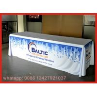 Quality Red Color Elastic Stretch Spandex Tablecloths , Tension Fabric Trade Show Displays for sale