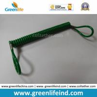 Quality Great Dark Green Plastic Retractable Lanyard Leash W/Loop Ends for sale