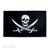 Quality Bright Colors Copper Grommet 3x5ft Outdoor Pirate Flag for sale
