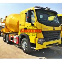 Quality 6x4 Cement Mixer Truck 9m3 Volume HOWO A7 Cabin Series 336 / 371hp Engine Power for sale
