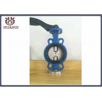 Lug Type 3'' Manual Butterfly Valve Wafer Type Cast Iron Simple Stucture