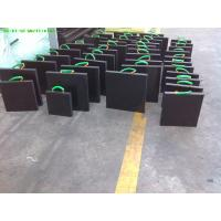Quality Black color uhmw polyethylene plastic crane lorry pe foot pads 50mm thick for sale