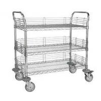 Quality 3 Tier Electrostatic Discharge Chrome Wire Shelving Trolley For ESD Industry for sale
