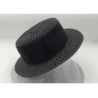 Quality Summer Fedora Panama Straw Hats with Black Band for sale