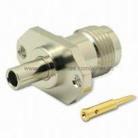 Quality TNC Straight Plug RF Coaxial Connector for RG-174U/316U Cable, 50 Ohms for sale