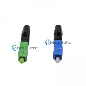 Quality Field Installable 90N 2.0mm SC UPC Optical Cable Connector for sale